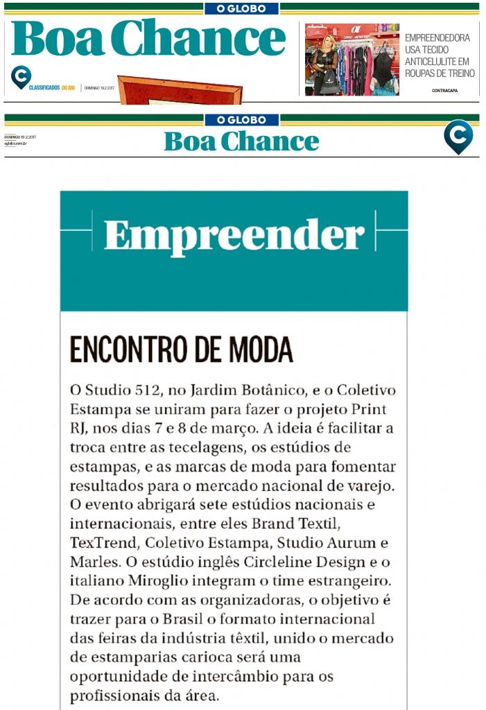 O Globo Boa Chance Lenz Co